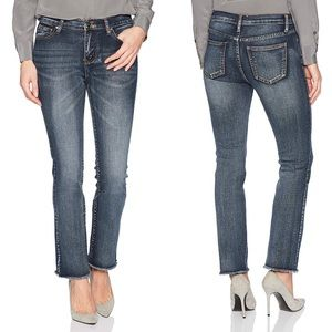 Evidnt Straight Leg Jeans With Frayed Hems